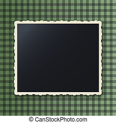 Instant photo frame with copy space, gaussian blur effect