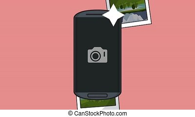 Instant photos from smartphone HD animation