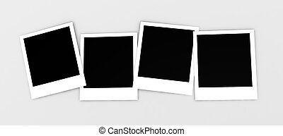 Instant photos isolated