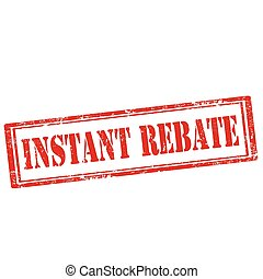 Instant Rebate-stamp - Grunge rubber stamp with text Instant...