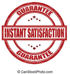 Instant satisfaction - Stamp with text instant satisfaction...