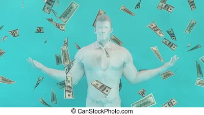 Instant Success with Business Man Catching Money