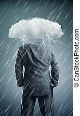 instead, hoofd, wolk, man