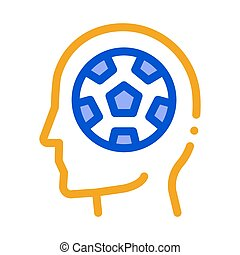 Instead of Brain - Football Icon Vector Outline