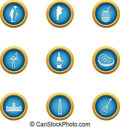Instinctive icons set, flat style