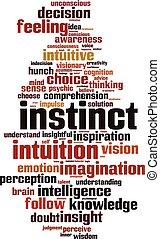 instinkt, wort, wolke