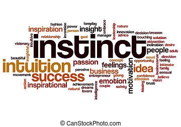 instinto, palabra, nube