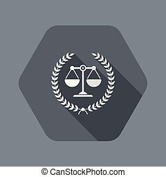 Institutional law symbol icon - Flat and isolated vector ...