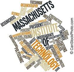 instituut, technologie, Woord,  Massachusetts, wolk