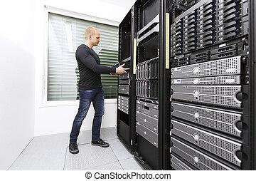 instradatore, rete, installare, datacenter