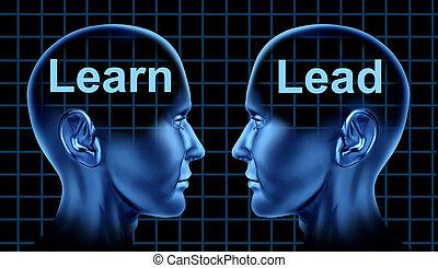 instrucción negocio, y, liderazgo