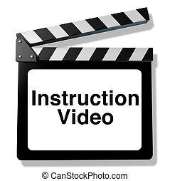 instrucción, vídeo