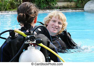 instructeur, plongée sous-marine