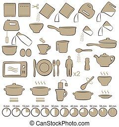 instructies, het koken, handleiding