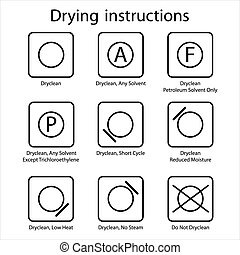 instruction, dry-clean