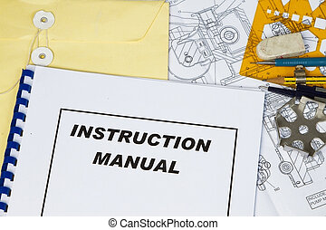 Instruction Manual of a machinery with engineering tools.
