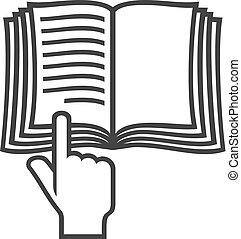 (instruction, symbole, manuel, livre, vecteur, icon)