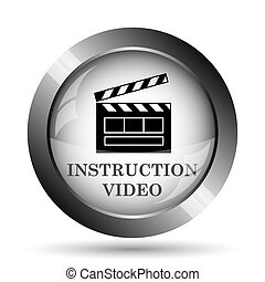 Instruction video icon. Instruction video website button on ...