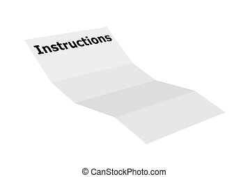 Instructions - Illustration of a blank instructions paper ...