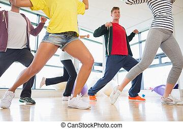 instructor, pilates, clase, ejercicio, condición física