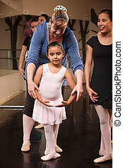Instructor with Young Dancer