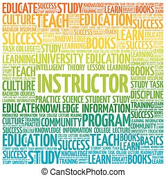 INSTRUCTOR word cloud