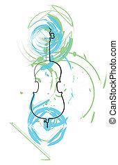 instrument, abstrakcyjny, muzyka