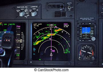 instrument, avion, panneau
