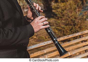 instrument, clarinette, musical