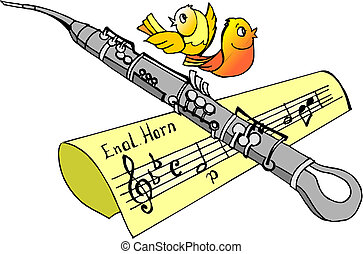 instrument, clarinette, musique