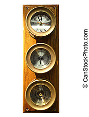Instrument cluster with barometer and clock with clipping...