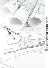 instrument, dessiner, architecture