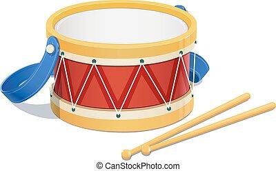 instrument, drum., muziek