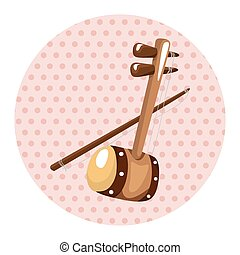 instrument erhu cartoon theme elements