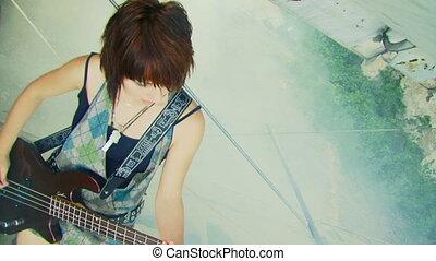 instrument, girl, musical