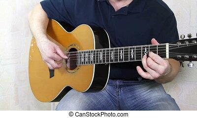 instrument, gitarzysta, muzyczny, siła robocza