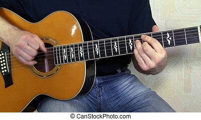 instrument, guitariste, musical, h