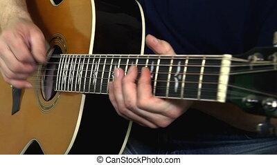 instrument, guitariste, musical, main