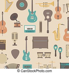 instrument icon - set of abstract classical music instrument...