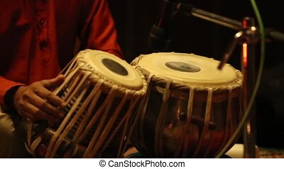 instrument, indien, -, tabla, musical