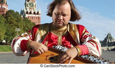 instrument, interprète, musique, gusli