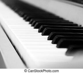 instrument, klasyczny, klawiatura