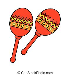instrument, maracas, mexicaanse , pictogram