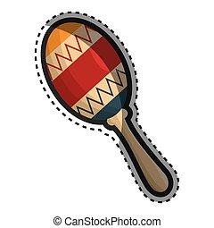 instrument, maracas, vrijstaand, pictogram