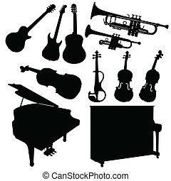 instrument muziek, black