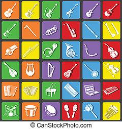 instrument muziek, iconen
