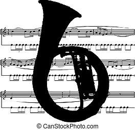 instrument, muzyczny, tuba