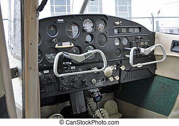 Instrument Panel on Small Plane