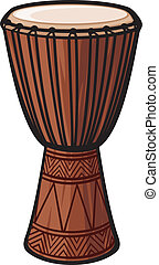 instrument), tamburo, africano, (music
