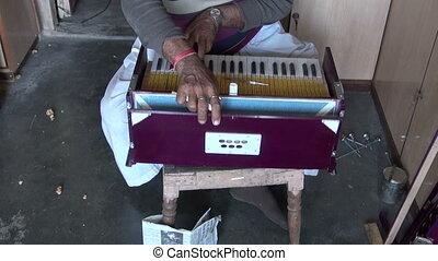 instrument, travaux, musical, réparation